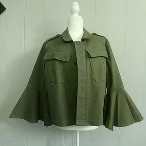 RACHEL Rachel Roy Bell-Sleeve Utility Jacket NWT